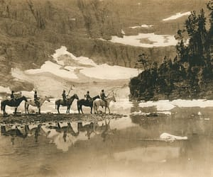 Glacier National Park, iceberg lake, and blackfeet indians image