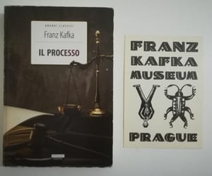 book, the trial, and franz kafka image
