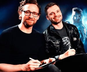 sebastian stan, tom hiddleston, and Marvel image