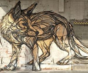 art, fox, and wolf image