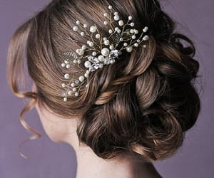 etsy, leaf hair comb, and wedding comb image