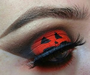 eyeliner, eyeshadow, and Halloween image
