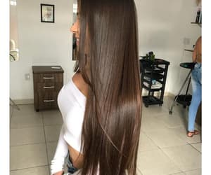brown, hair, and healthy image