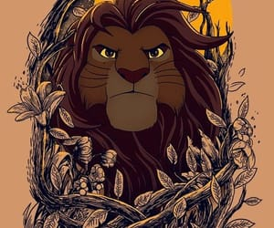 simba, disney, and mufasa image