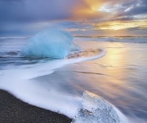 ice, beach, and sea image