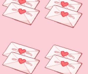 baby, hearts, and love letter image