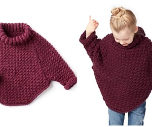 crochet, sweater, and cowl pullover image