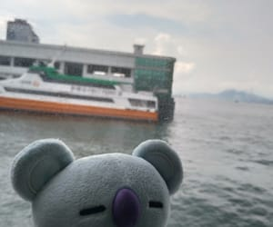 ferry, hong kong, and travel image