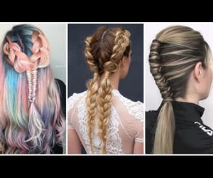 video, fish braid, and hairstyle image