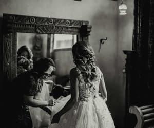 black and white, bridal, and bridge image