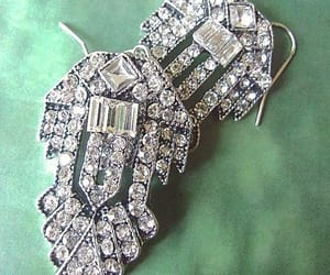 etsy, clear rhinestones, and flapper image