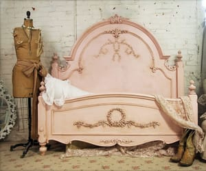 vintage, bed, and pink image