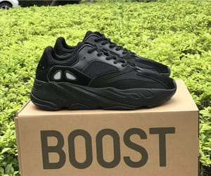 black, boost, and yeezy image