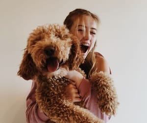 girl, dog, and happiness image