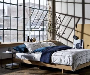 bed, bedroom, and fashion image