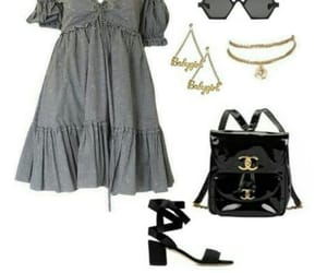 chanel, dress, and glasses image