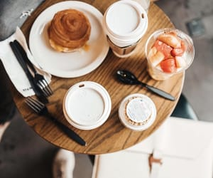 breakfast, coffee, and drink image