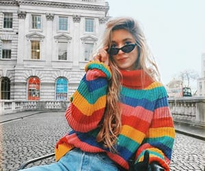 fashion, style, and rainbow image