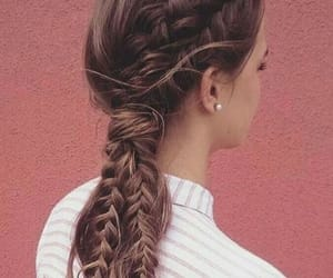 braid, girl, and hairstyle image