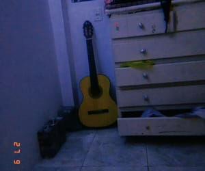 guitar, my room, and vintage room image
