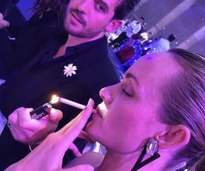 fashion week, smoking, and model image