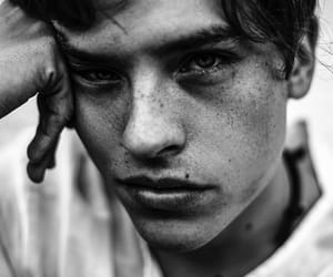 dylan sprouse, black and white, and boy image