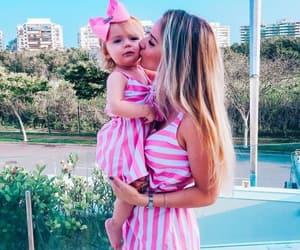 baby, beautiful, and mom image