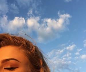 blue, makeup, and sky image