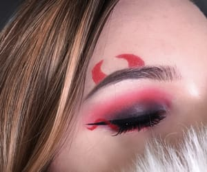 Devil, makeup, and eyeliner image