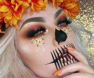 Halloween, makeup, and autumn image