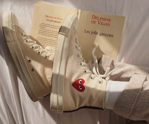 aesthetic, shoes, and book image