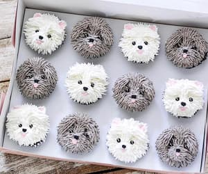 cake, cupcake, and dog image