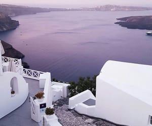 Greece, purple, and sea image