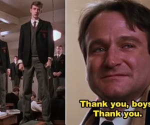 dead poets society, robin williams, and o captain image