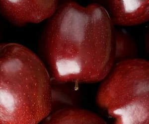 apple, red, and food image