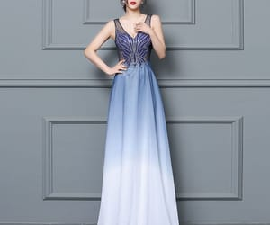 evening dresses, royal blue dress, and formal dresses image