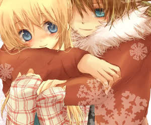 cute, anime, and hug image