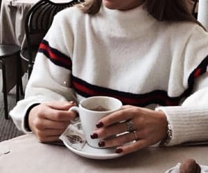 fashion, coffee, and winter image