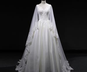 bridal gown, vintage wedding dress, and 2019 image