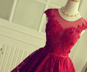 red prom dresses, lace prom dresses, and red lace prom dresses image