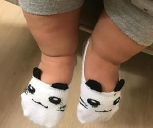 baby, panda, and outfit image