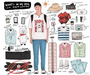 airport, art, and bag image