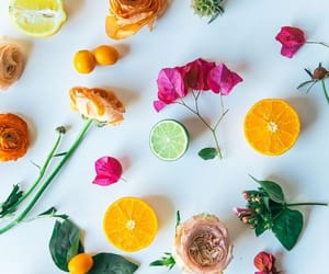 flowers, fruit, and wallpaper image