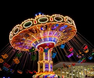 amusement park, colorful, and entertainment image