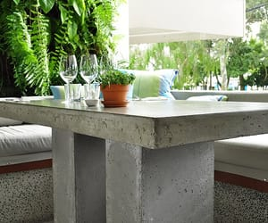 concrete top dining table image