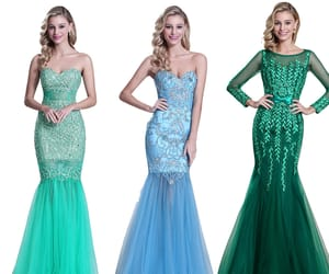long sleeves, evening gowns, and sweetheart neck image