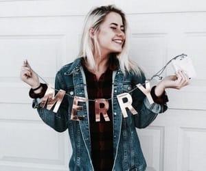 girl, fashion, and christmas image