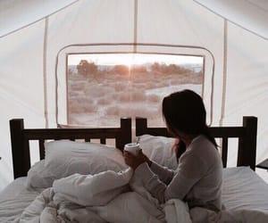 girl, morning, and coffee image