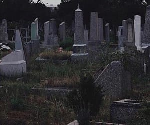 aesthetic, cemetery, and grunge image