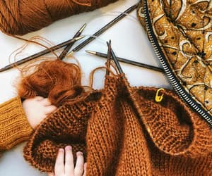 autumn, brown, and knit image